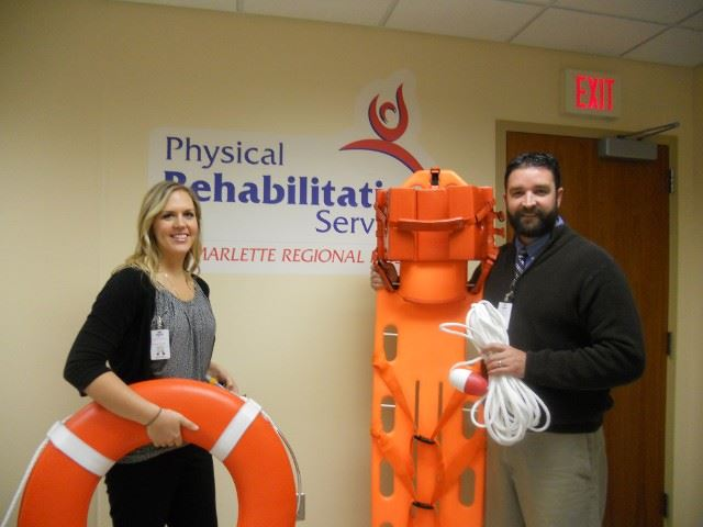 Thanking Marlette Regional Hospital for Donating the Rescue Equipment