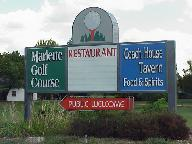 Marlette Golf Course Sign